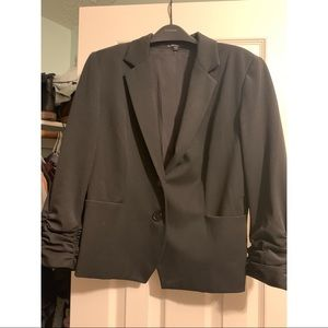 Express Ruched Sleeve Blazer